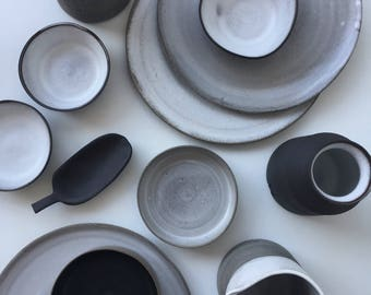 ceramic plate, minimal plate, ceramic saucer, stoneware, gift for her