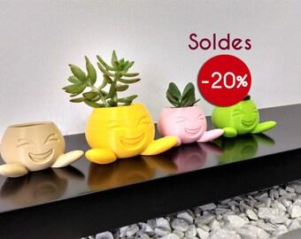 Sale! Emoji Smile Flower Pot cover