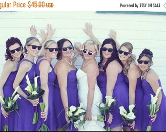 10% OFF ALL JUNE Bridesmaids Sunglasses - Set of 7 Bridal Party Sunglasses