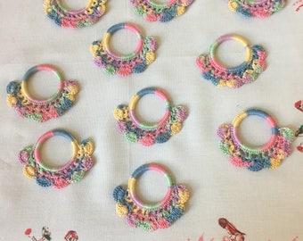 Vintage Shade Pulls Or Napkin Rings