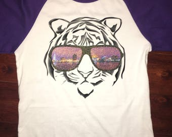 Baton Rouge LSU Tiger Sunglasses Baseball Raglan