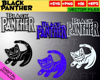 Black Panther SVG PNG EPS 3 files Marvel Black Panther Wakanda Forever Helmet Mask clipart silhouette stencil file cricut vector cut file