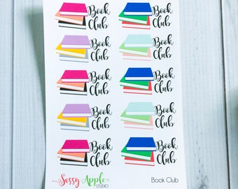 Book Club Reminder Stickers - Book Stickers - Reading Stickers - Library Stickers