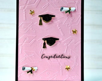 GIRLS' GRADUATION Card - Handmade/Homemade High School College Grad Graduation Card