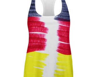 Oktoberfest Color Me German All Over Womens Work Out Tank Top
