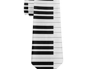 Piano Key All Over Neck Tie