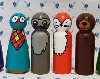 Wooden Peg Dolls - Animals