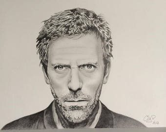 Portrait of Hugh Laurie aka Dr House