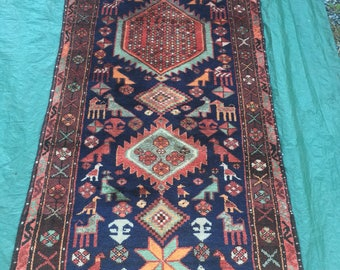 Exquisite Hand Made Oriental Persian Runner Rug 3 Feet 2 Inches X 9 Feet 3  Inches