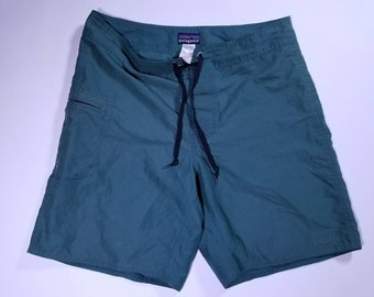 Forest Green Patagonia Vintage Swim Shorts 32