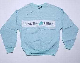 Turtle By Hilton Hawaii Baby Blue Sweater S