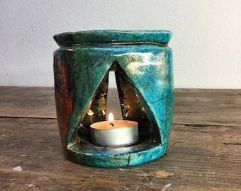 Raku Ceramic, Essential Oils Burner, burner ceramic Raku