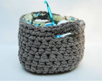 Basket, Crochet Basket, Small Basket, Storage Basket