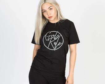 Girls Rule Short Sleeve Tee - Black