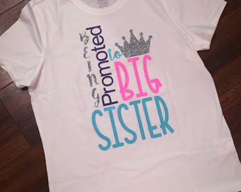 Being promoted to big sister tee