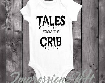 Funny Halloween onesie and bodysuit - Tales from the Crib, funny parody