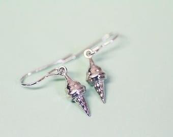 Sterling silver ice cream drop earrings