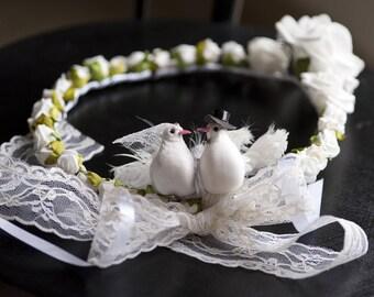Flower bridal tiara Crown