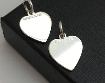 Tiffany & Co Silver Heart Charms Set