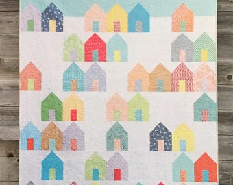 Suburbs Quilt Pattern (Paper Pattern) by Cluck Cluck Sew in 3 sizes