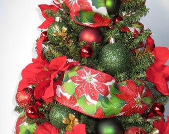Tis the Season, tabletop Christmas Tree, Christmas Decoration, OOAK Christmas, Topiary Tree, Mini Christmas Tree, Home Decor, Handmade, Gift