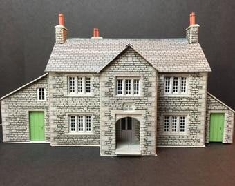 Miniature 00/HO 1:76th 1/87th scale manor farmhouse