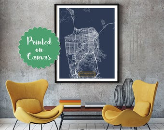 SAN FRANCISCO California City Map San Francisco California Art Print San Francisco California poster map art United States of America Jack