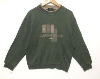 Vintage Claudio Valentino paris Crewneck Sweatshirt