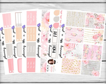 Romance Planner Sticker Kit // Fits Erin Condren Vertical Life Planner, Happy Planner, etc