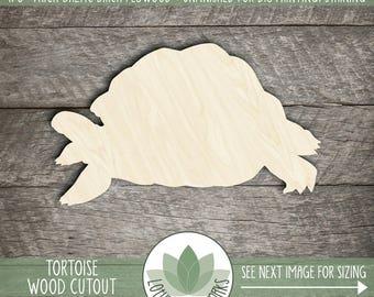 Turtle Tortoise Wood Cut Shape, Unfinished Wood Turtle Laser Cut Shape, DIY Craft Supply, Many Size Options