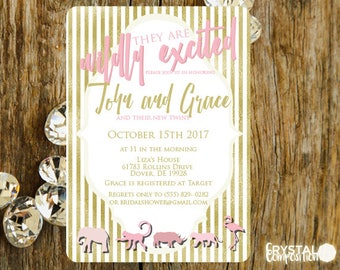 Wildly Excited Baby Shower Invitation Printable