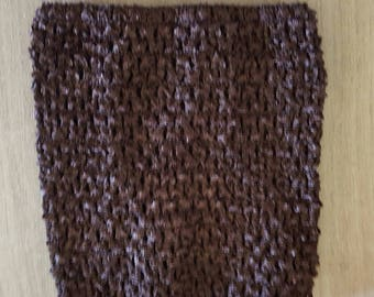STRAPLESS stretch Brown crochet for creating dress 0-16 month TUTU
