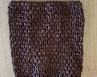 sale 3.3 instead of 3.80.BUSTIER stretch dark brown 0-16 months crochet for creating baby tutu dress