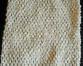 STRAPLESS stretch 2 to 6 ivory crochet tutu dress creation
