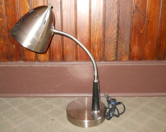 Vintage Portable Metal Desk Lamp