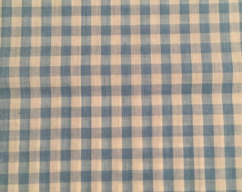 Small Royal Blue Gingham Cotton