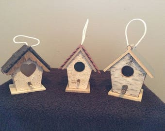 Birch Birdhouse Set