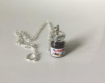 Nutella jar and spoon necklace