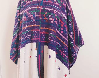 Incredible Ceremonial Handwoven Huipil from Chuarrancho Guatemala, Geometric Design, Vibrant Colors.