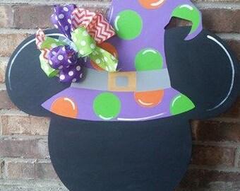 Mickey halloween door hanger