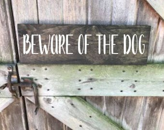 Beware of Dog Sign, Beware of Dog Door Sign, Dog Sign, Beware of Dog, Dog Sign for a Home, Dog Sign for Front Door, Dog Decor, Wood Sign