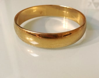 Vintage Monet Gold Bangle 80's Bracelet