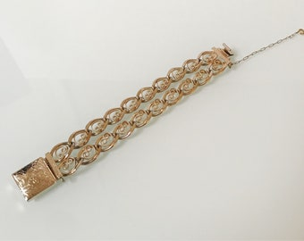 Vintage Gold Double Link 70's Bracelet