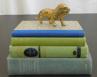 Vintage Solid Brass Lion Figurine, Big Cat, Desk, Office, Home, Library, Collection, Paperweight, Animal, Gift for Big Cat Lover, Wildlife
