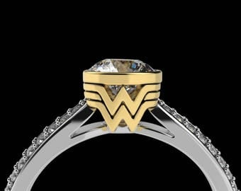 wonder woman wedding ring ring etsy 1477