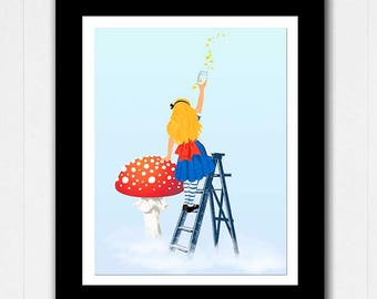 Alice in Wonderland Poster - Catching Stars - Buy 2 Get 1 FREE