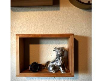 "Square Shelf - Rectangle - 8"" x 12"" - MidCentury Modern Shelf - Hanging Shelf - Floating Shelf - Shadow Box - Geometric Shelf"