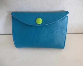teal card holder wallet