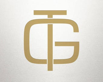 Overlapping Letters Design - GT TG - Overlapping Letters - Digital