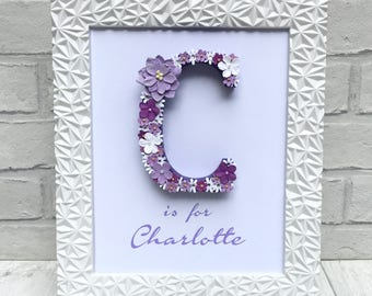 Personalised Christmas Gift, Lavender Decor, Lilac Bedroom Decor, Charlotte  Personalised Gift, Goddaughter